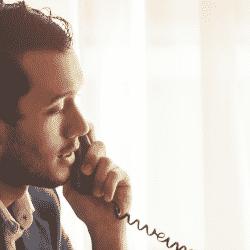 Broker selling insurance over the phone