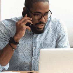 Broker calling internet leads