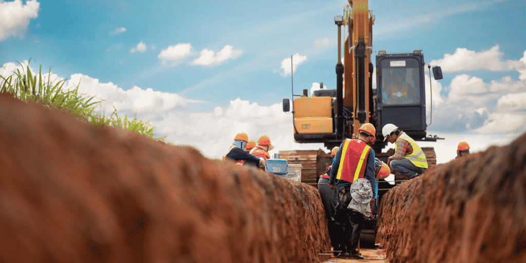 Excavation business insurance to protect against trench collapse
