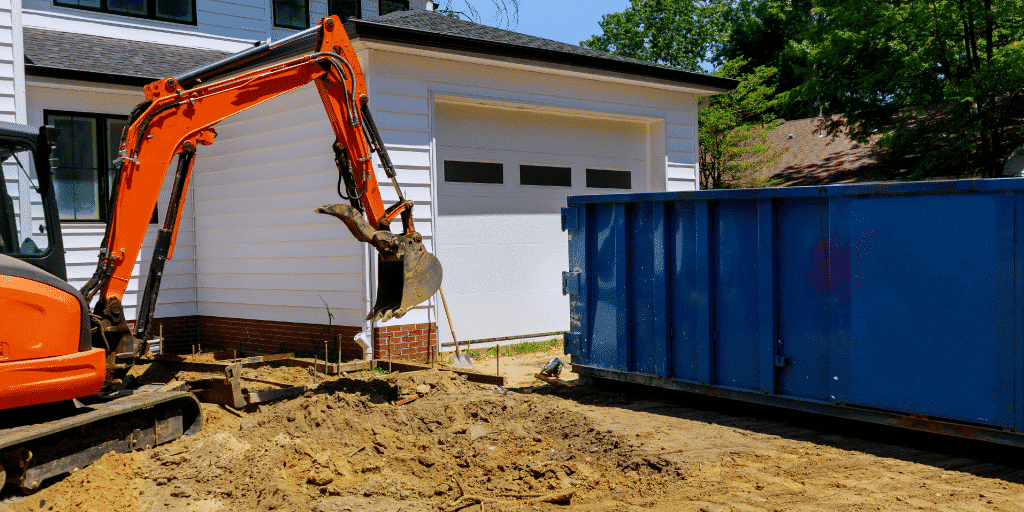 Excavator business insurance to protect against client house damage