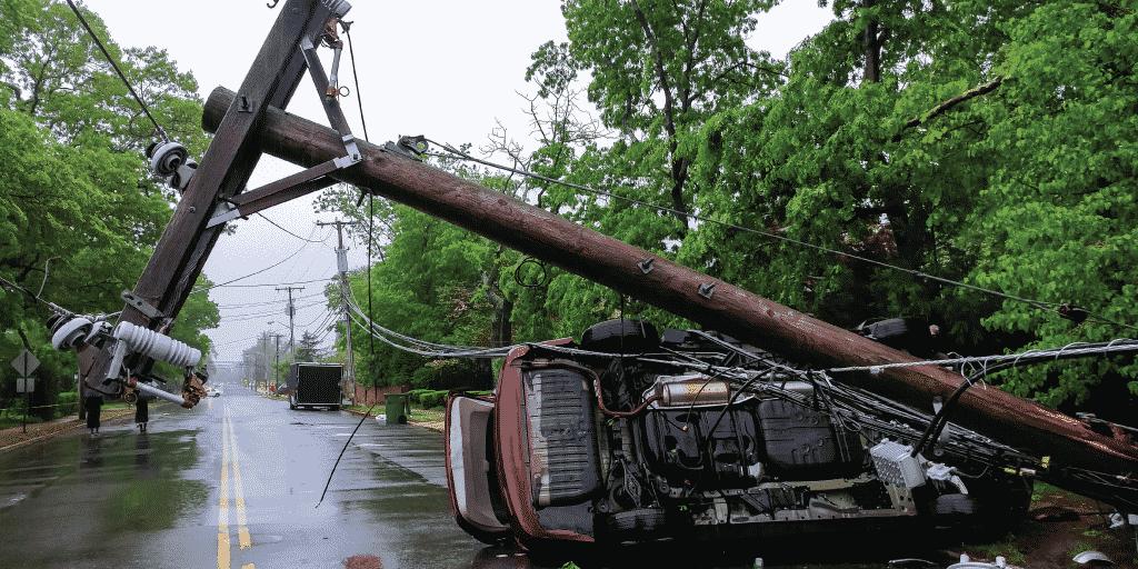 Tropical storm catastrophe damage