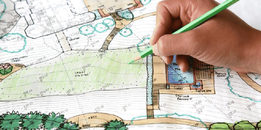 Landscape architecture design for landscaper environmental sustainability