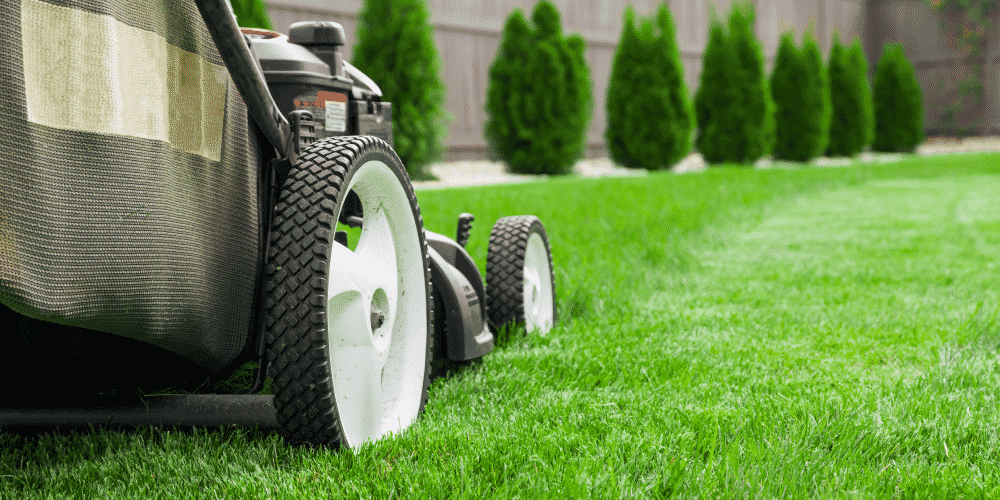 Landscaping lawn mower safety