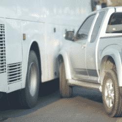 Arborist work truck accident